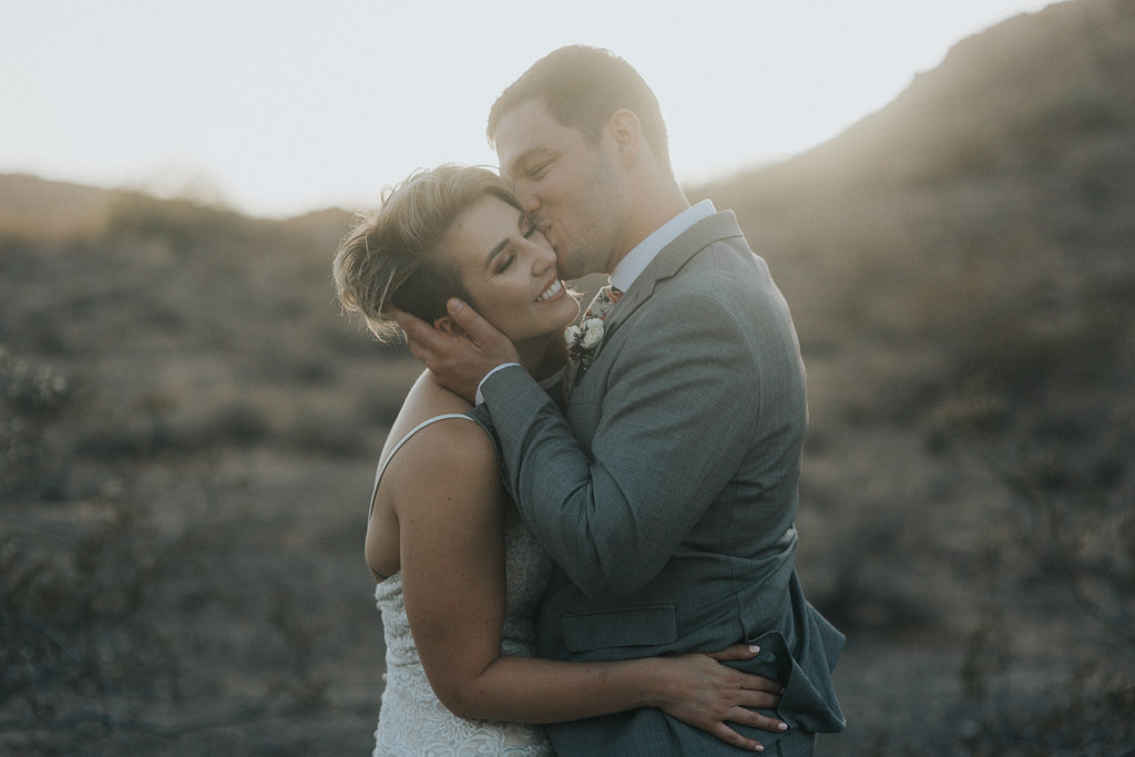 Elopement couple portrait in the desert of Phoenix, Arizona