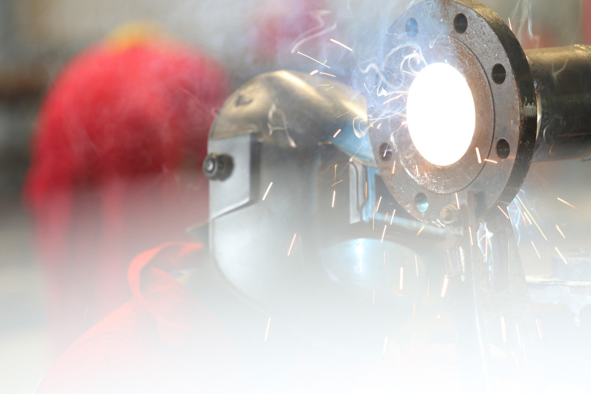Artistic shot of arc welder in action. Photo by Ross Photography, Trinidad, W.I..