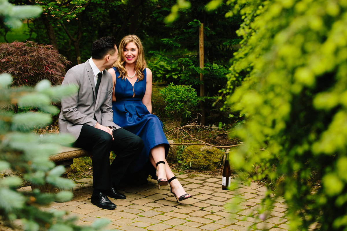 woodinville winery engagement photographer