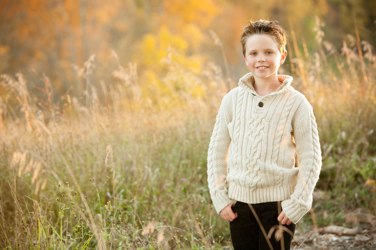 Outdoor child portrait by Hudson Valley NY professional children's and family photographer