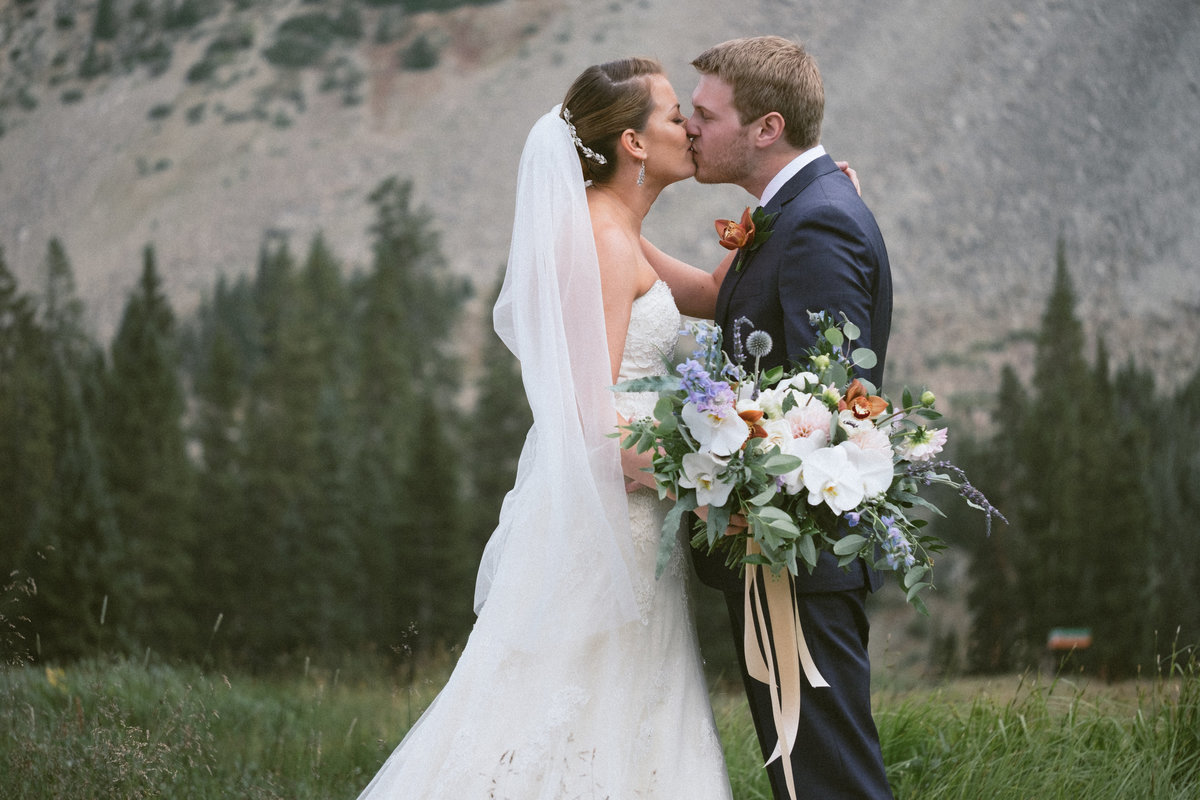 mountain face wedding