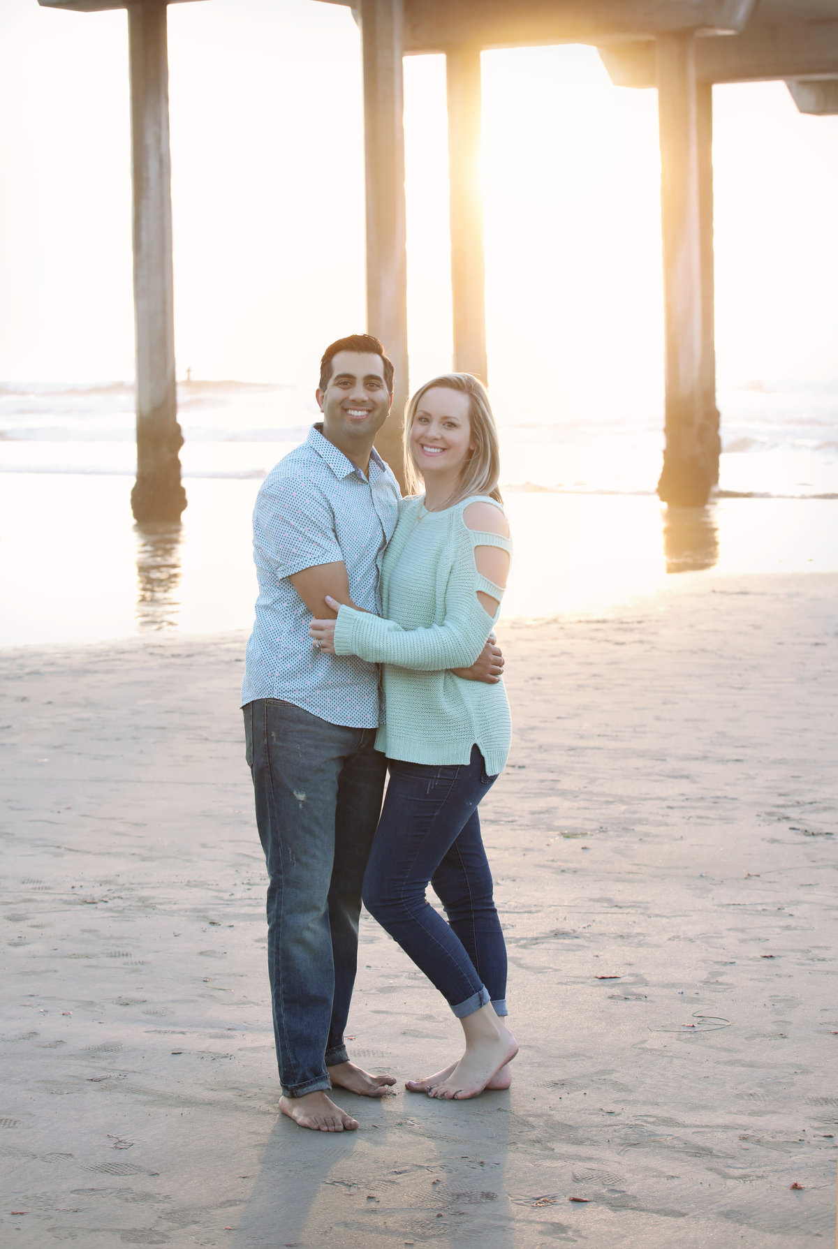 La Jolla beach couple  engagement - San Diego