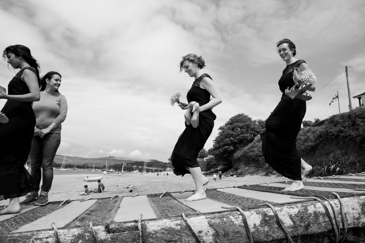 fun wedding photos salcombe devon
