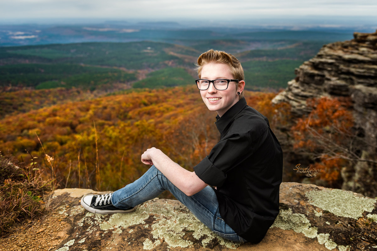 Senior Boy Fall Portrait