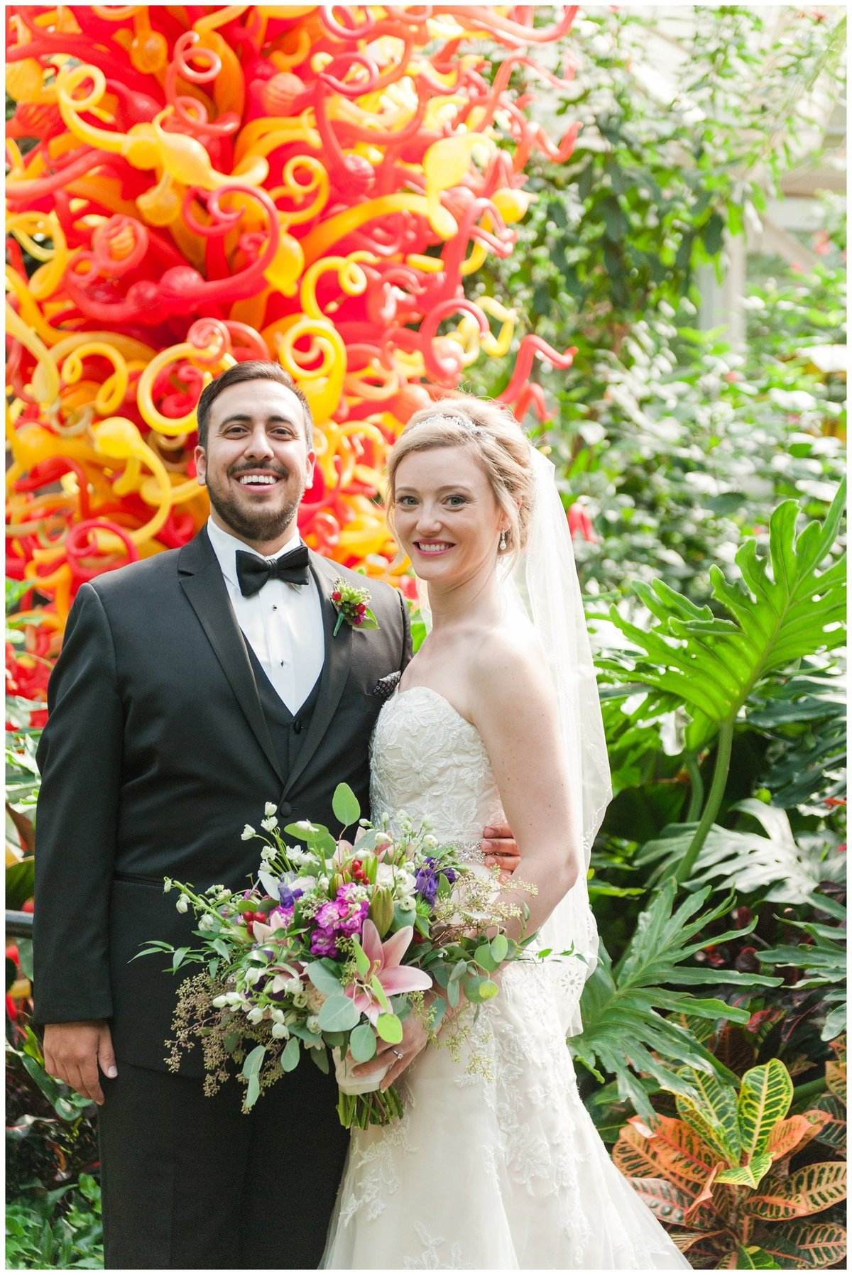 Franklin Park Conservatory Wedding The Palm House Bridal Garden Grove_0018
