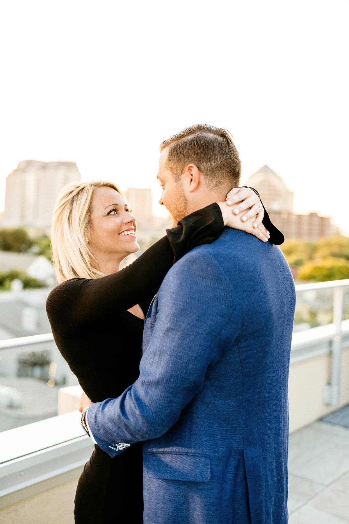 Eric & Megan - Downtown Dallas Rooftop Proposal & Engagement Session-107