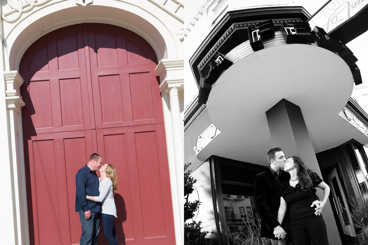 San Jose History Park, North Beach Engagement Session,  Engaged, Engagement Pictures, Jennifer Baciocco Photography, fire station,