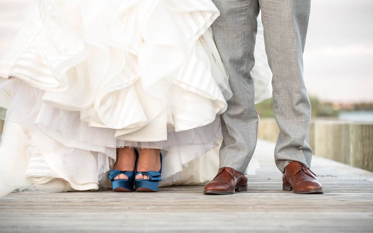 Wedding Shoes - Wedding Portrait - Lands End, New York - Imagine Studios Photography - Wedding Photographer