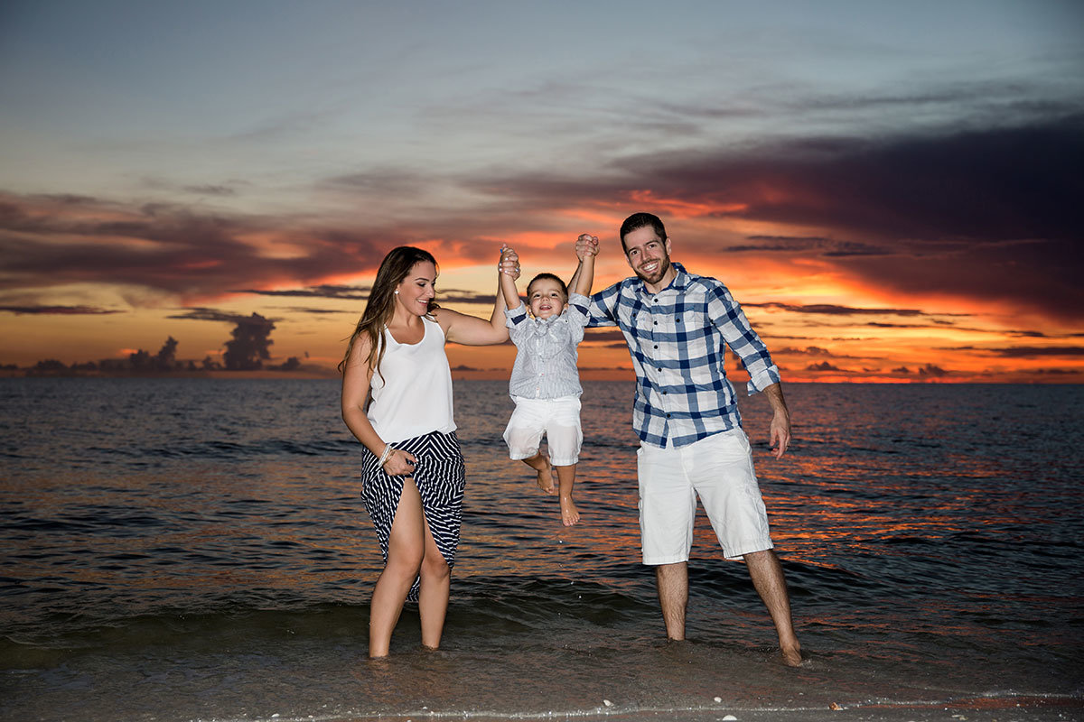 sunset beach family portrait naples florida