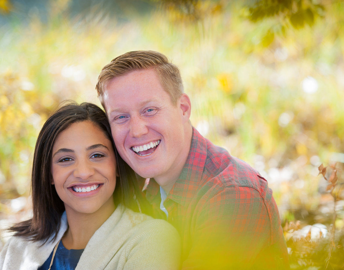Fall engagement photography kris kandel