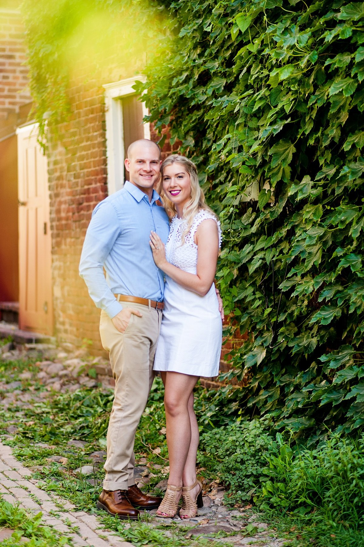 early morning old town alexandria engagement session