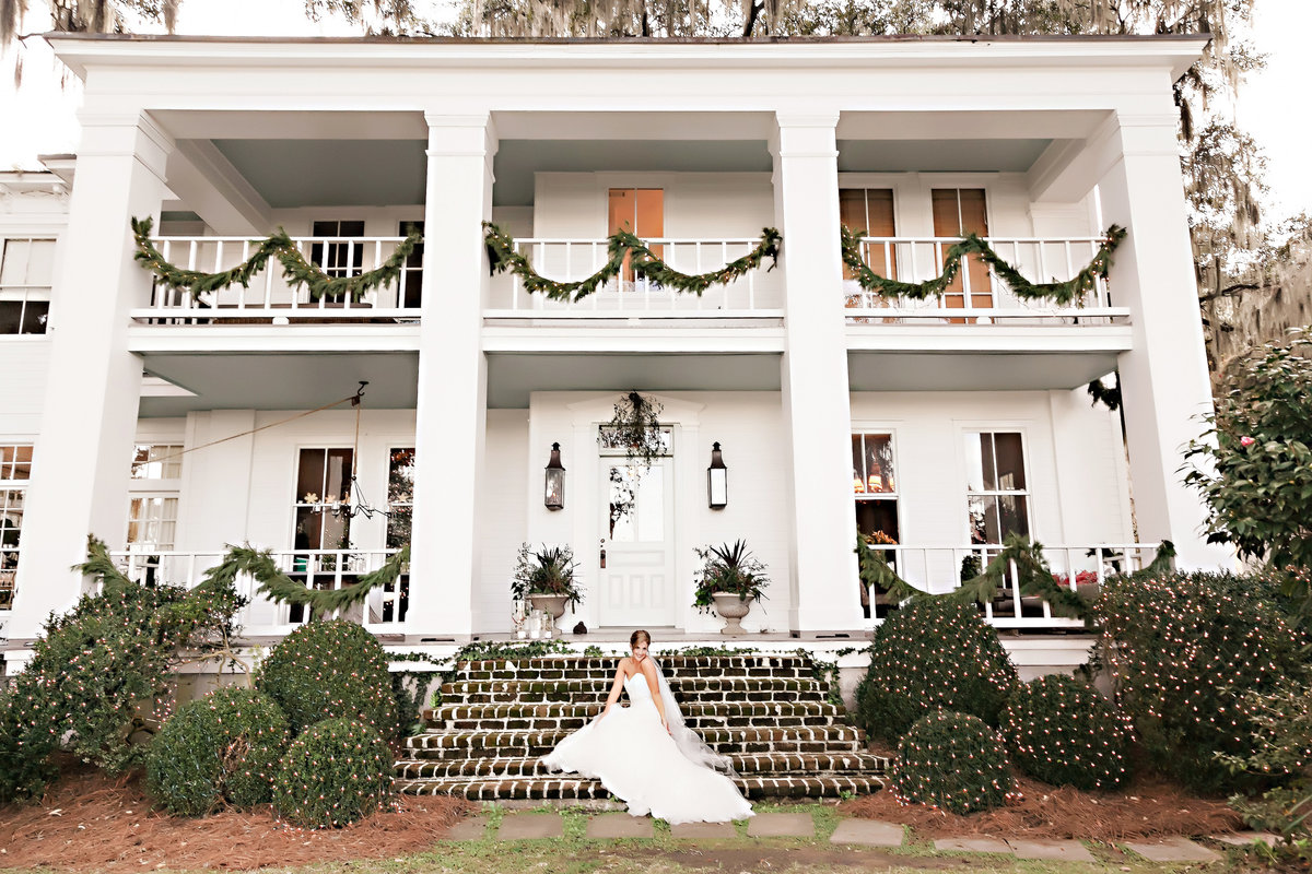Savannah Bride Mansion Plantation Charles Morris Center Wedding