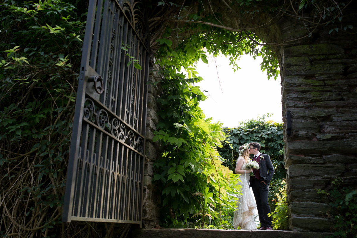 wedding photo at hestercombe gardens in somerset in summer