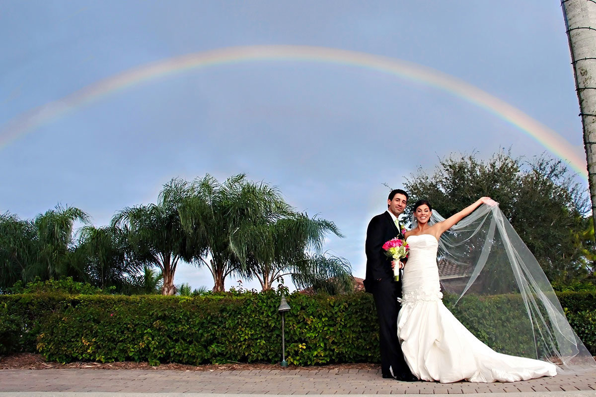 rainbow wedding photo naples florida