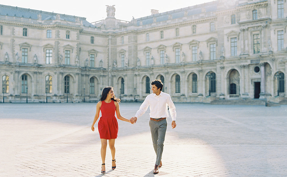 Saumya + Ashish Paris Tuileries Garden Louvre Couples Session - Cassie Valente Photography 0036