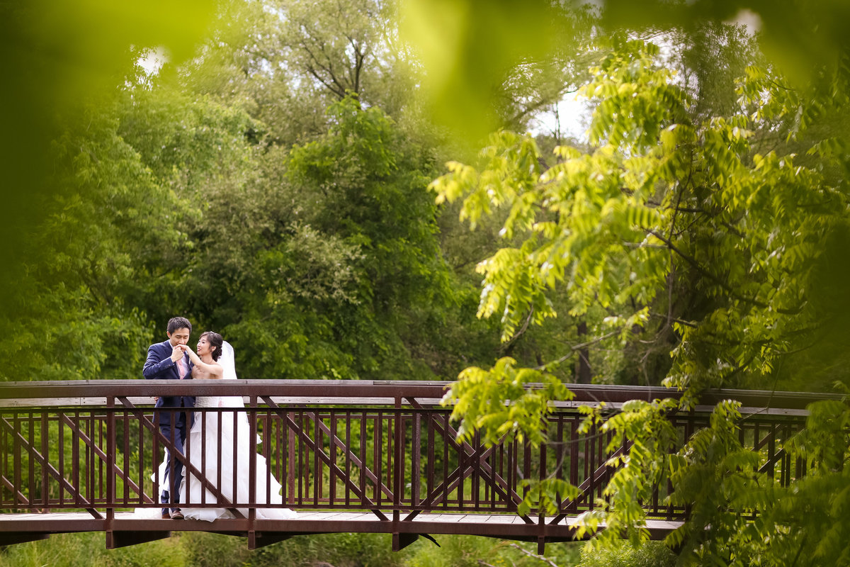 Burlington Niagara Toronto Wedding Photographers - couple on bridge