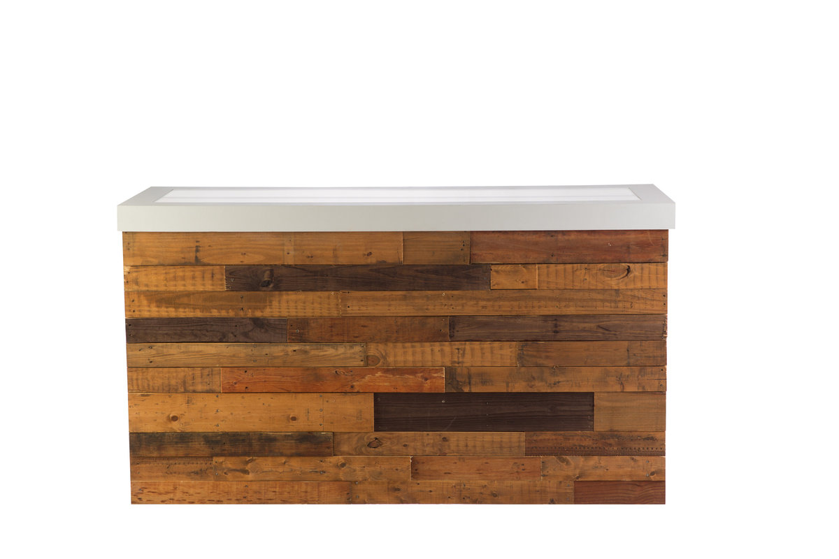 Reclaimed Wood Illuminated Bar