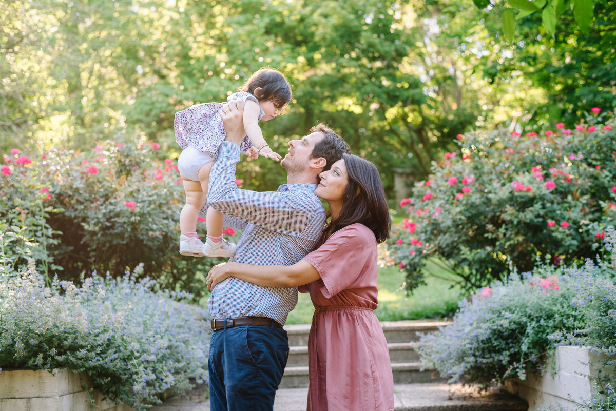 brookside botanical gardens family portraits session