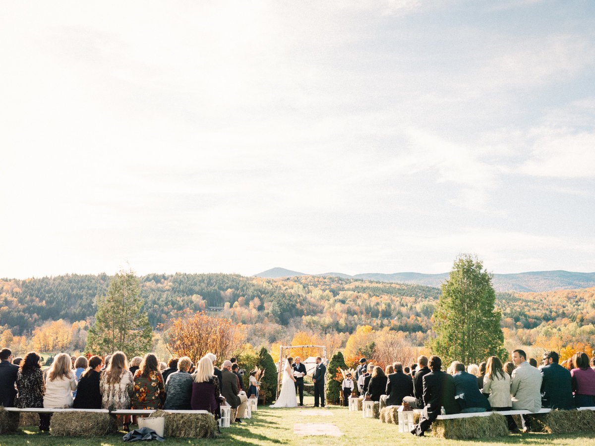 vermont fall wedding ceremony foliage