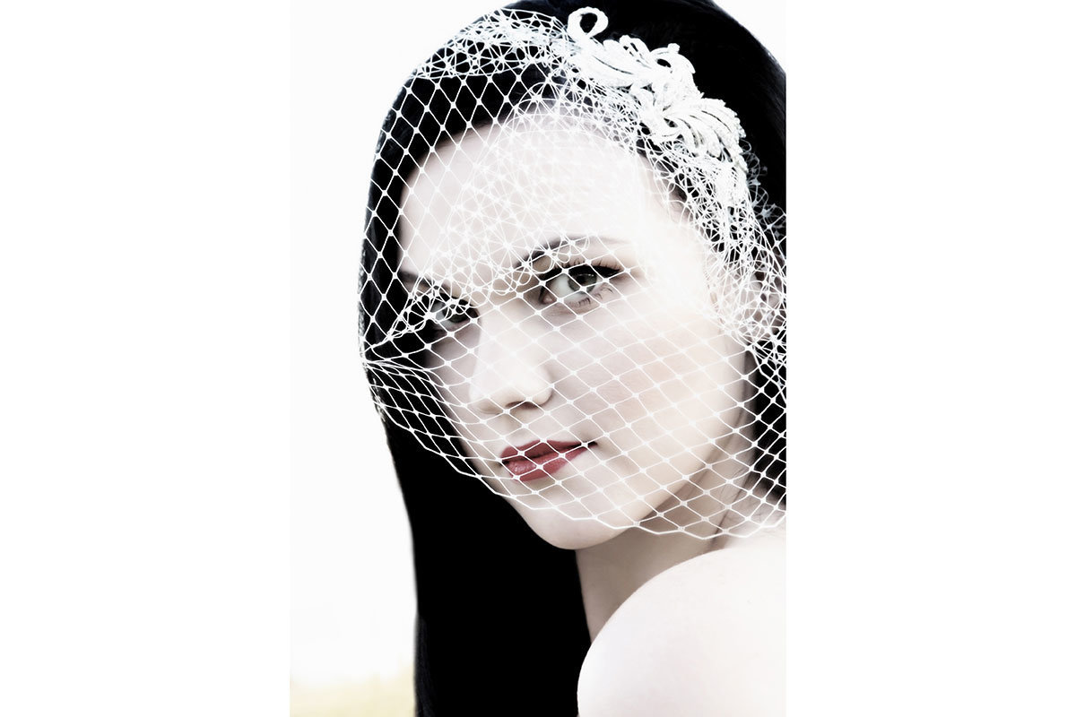 bird cage veil casa ybel wedding photo sanibel florida