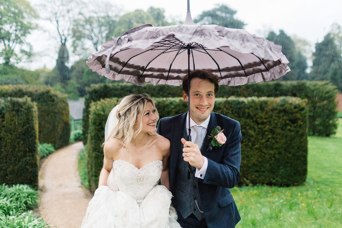 Broughton Hall Rainy Wedding Photos