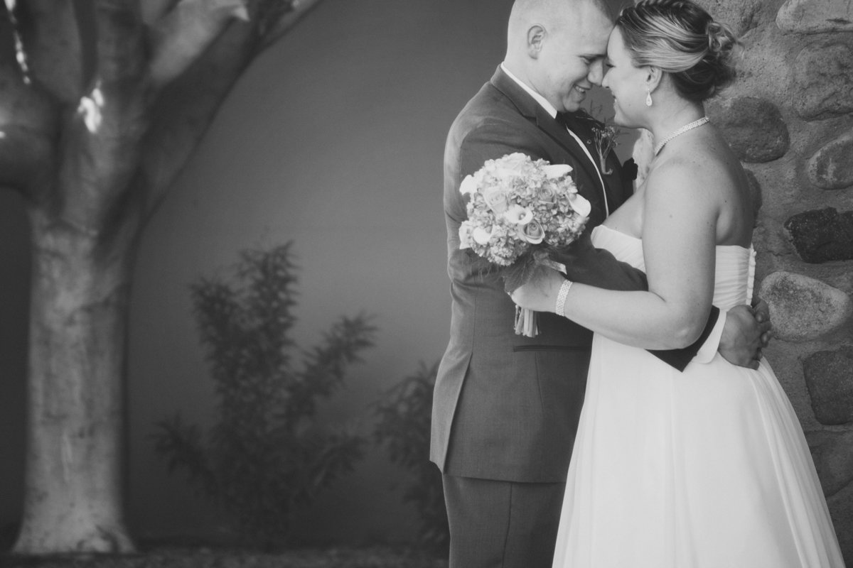 timeless black and white wedding photo