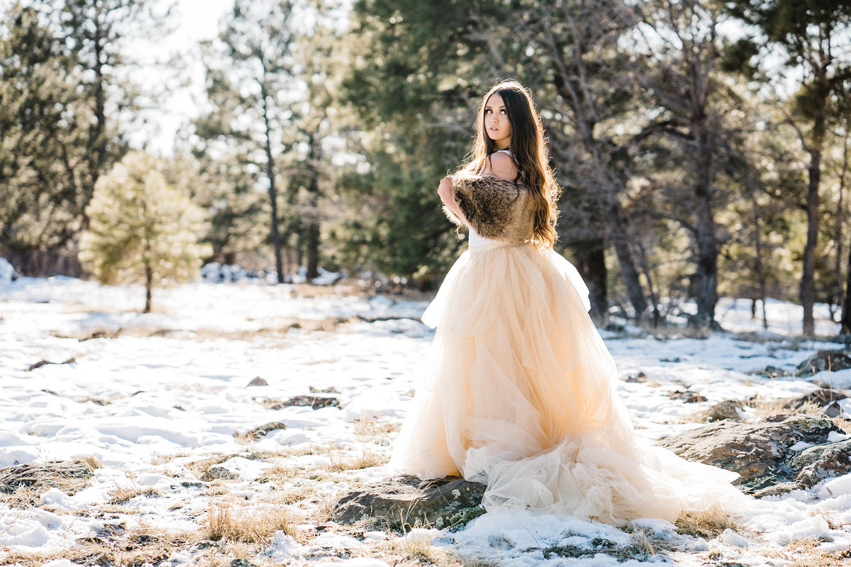 Adventure Winter Glam Bridals Atlas Rose Photography AZ01