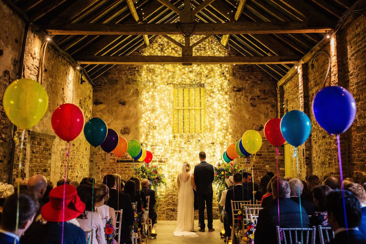 Colourful and alternative Barn Wedding in York