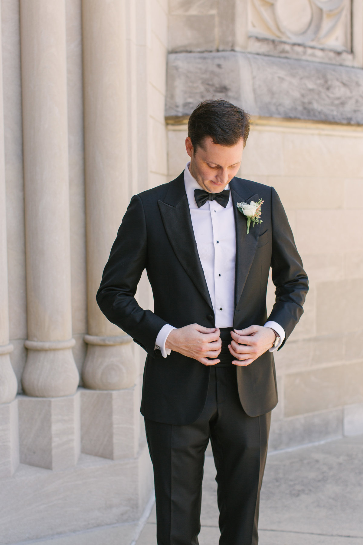 Scottish Rite Cathedral Wedding Groom Photo