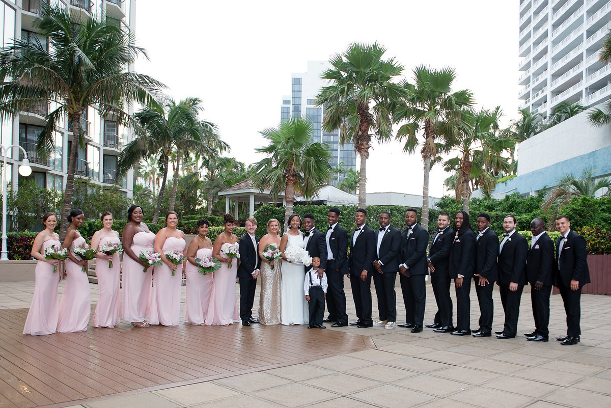 NFL Miami Dolphins Brandon Radcliff ShaKyra Radcliff Briza on the Bay Wedding Andrea Arostegui Photography-204