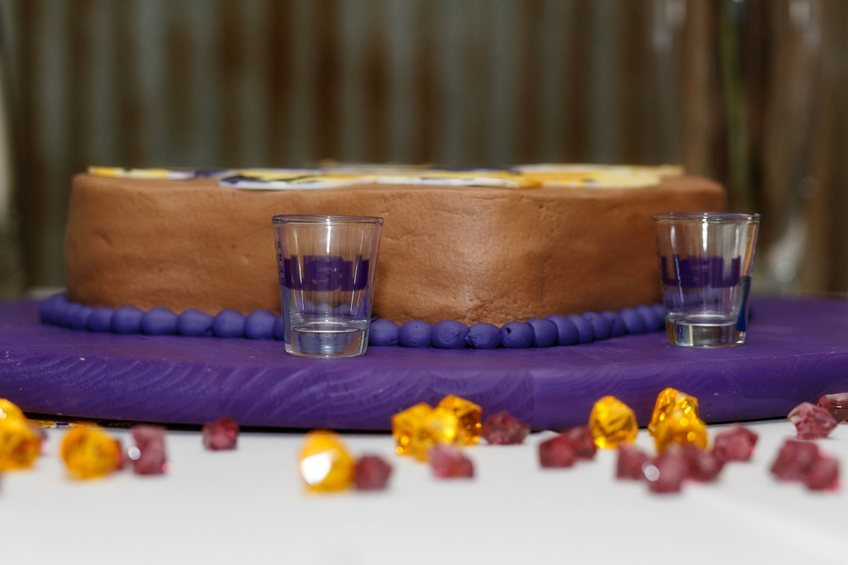 LSU Wedding Cake
