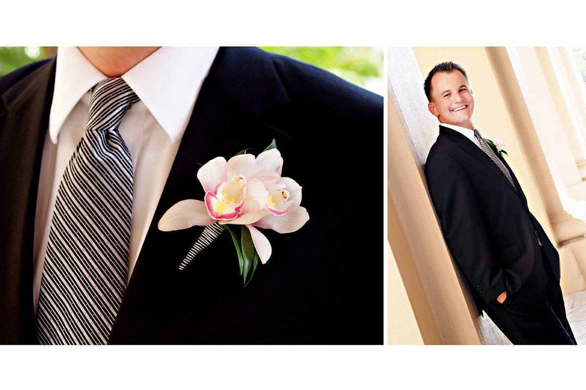 ritz carlton naples florida wedding orchid boutonnierre