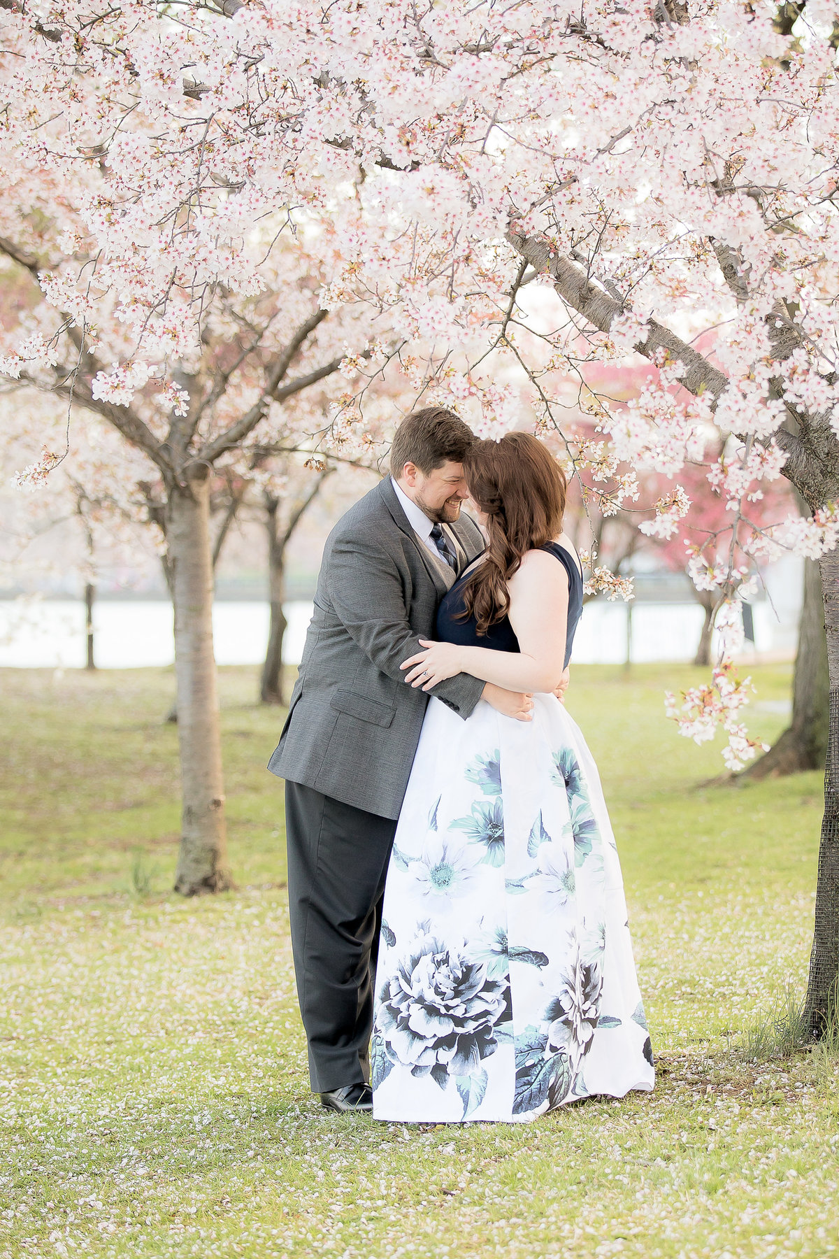 Couple with Cherry Blossoms