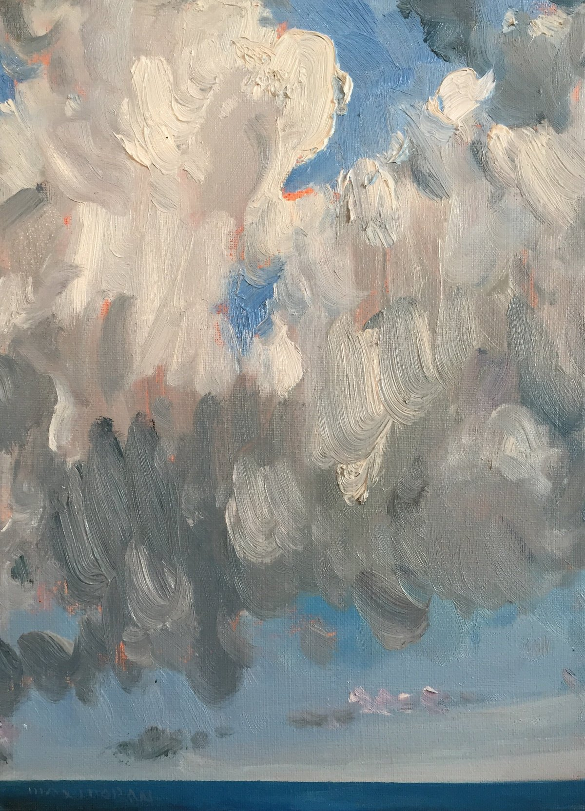 Clouds over the Bay 9x12 oop 1,500