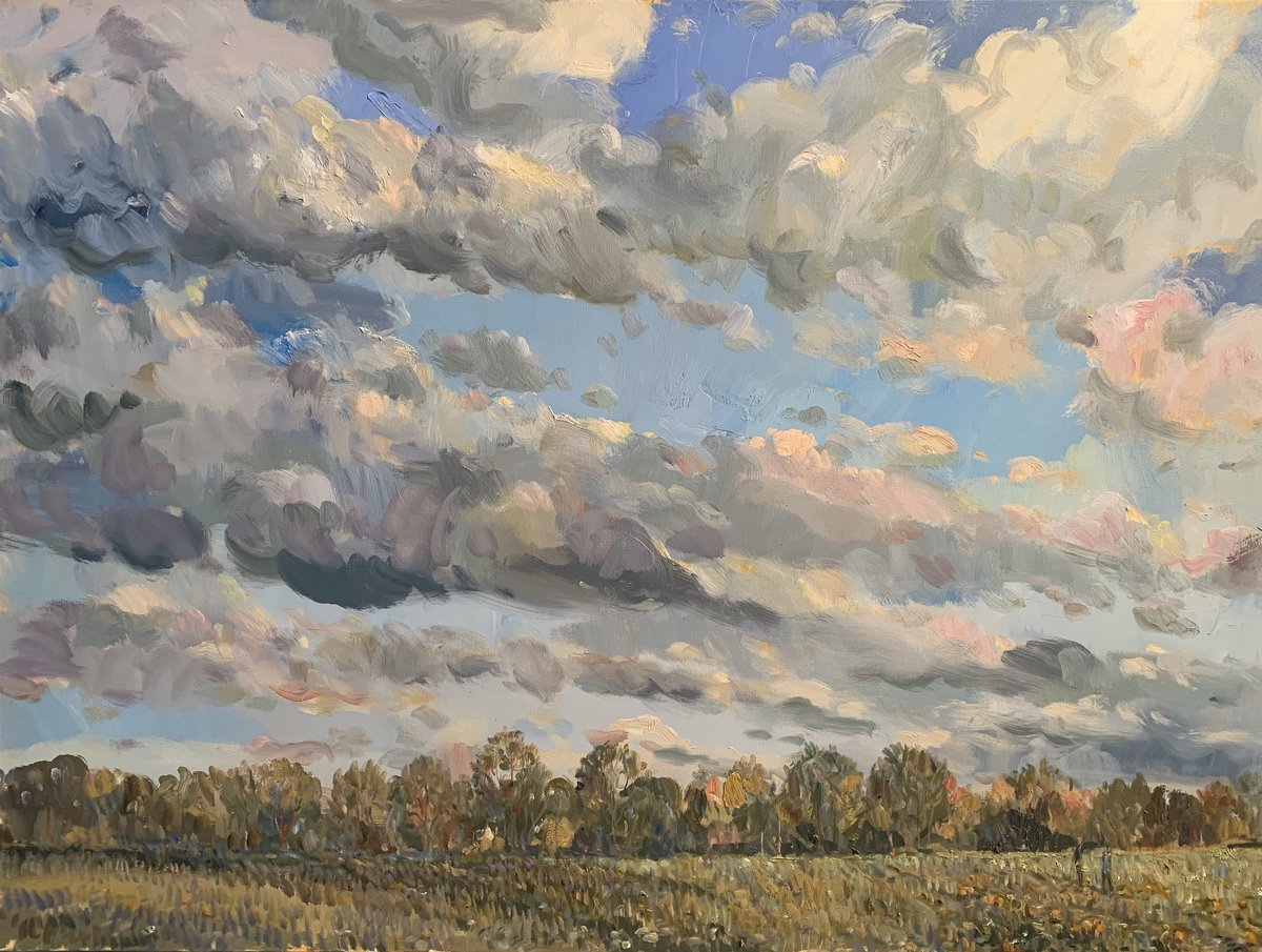 Walk in the Field 30 x 40 ooc 5,500