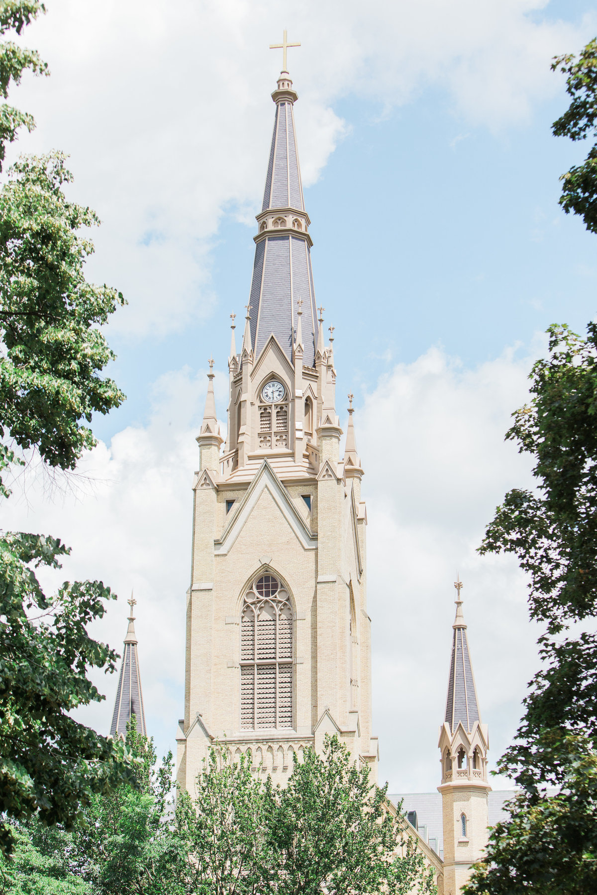 Basilica of the Sacred Heart Wedding Photo