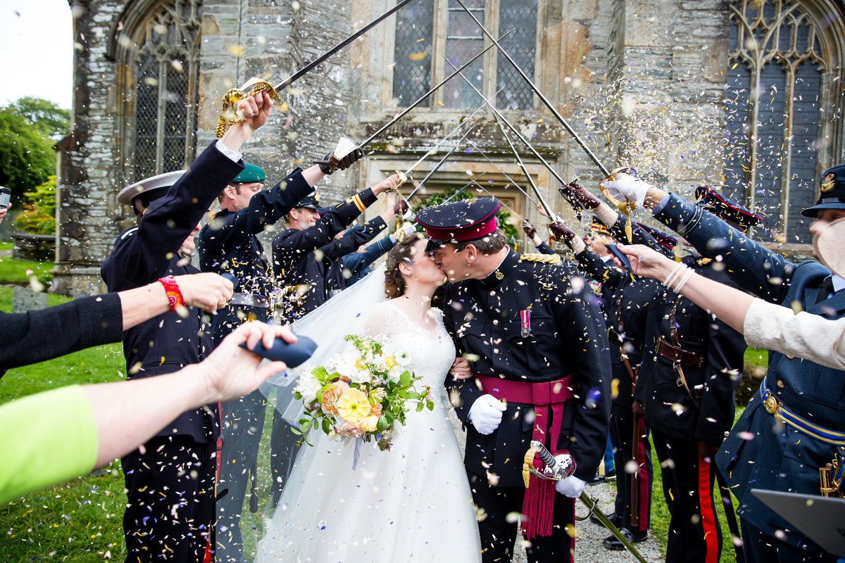 army wedding guard of honour devon