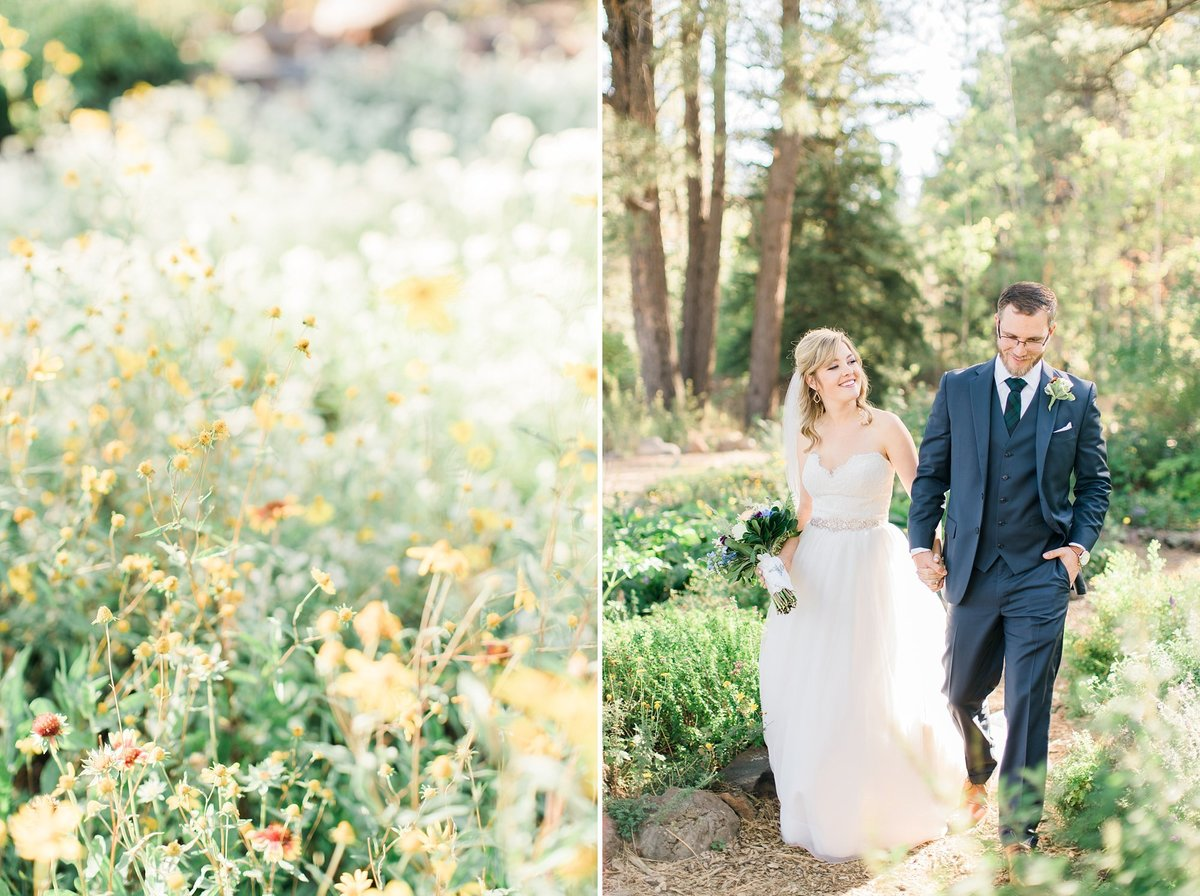 Flagstaff Arboretum wedding photos romantic Flagstaff wedding photographers Dan & Erin PhotoCinema