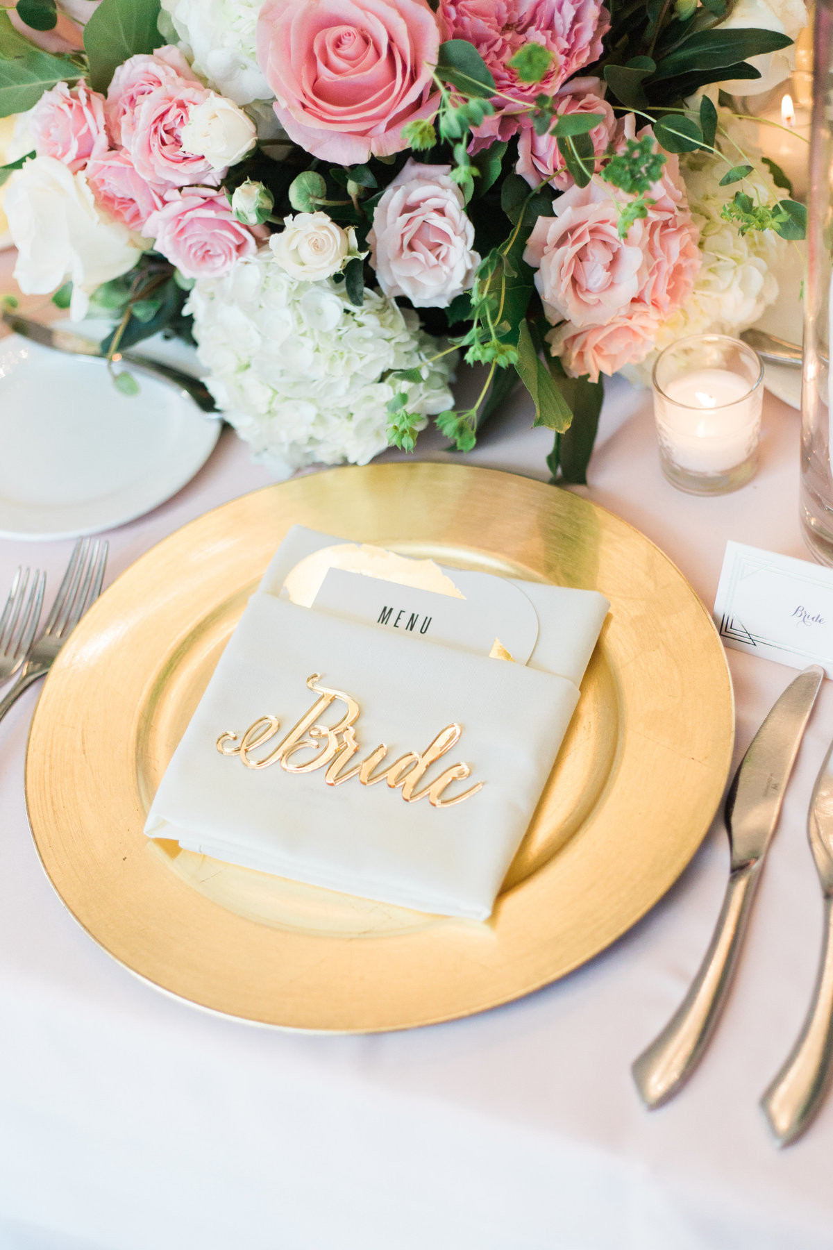Bride plate arrangement