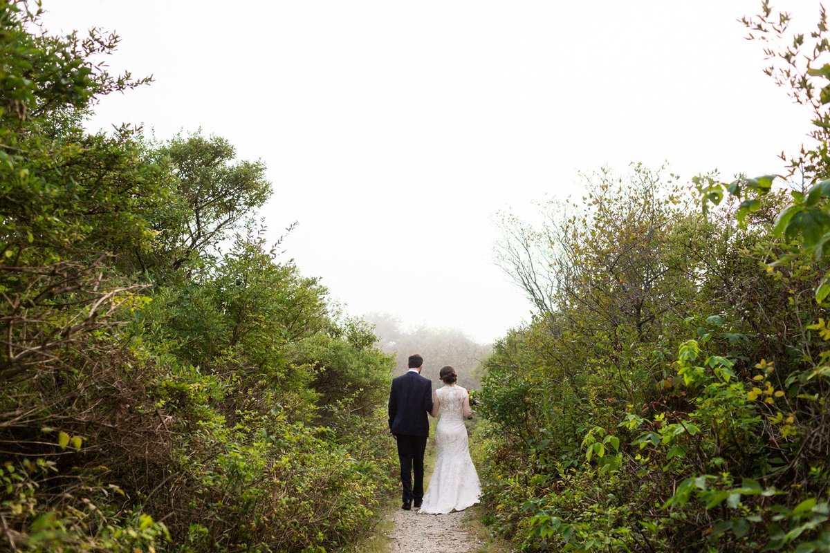 Kettle Cove Cape Elizabeth Maine Wedding Photographers Portland  Fog Image Bride Groom Image I am Sarah V Photography