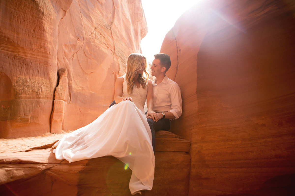 Upper Antelope Canyon Page Arizona Engagement Photoshoot