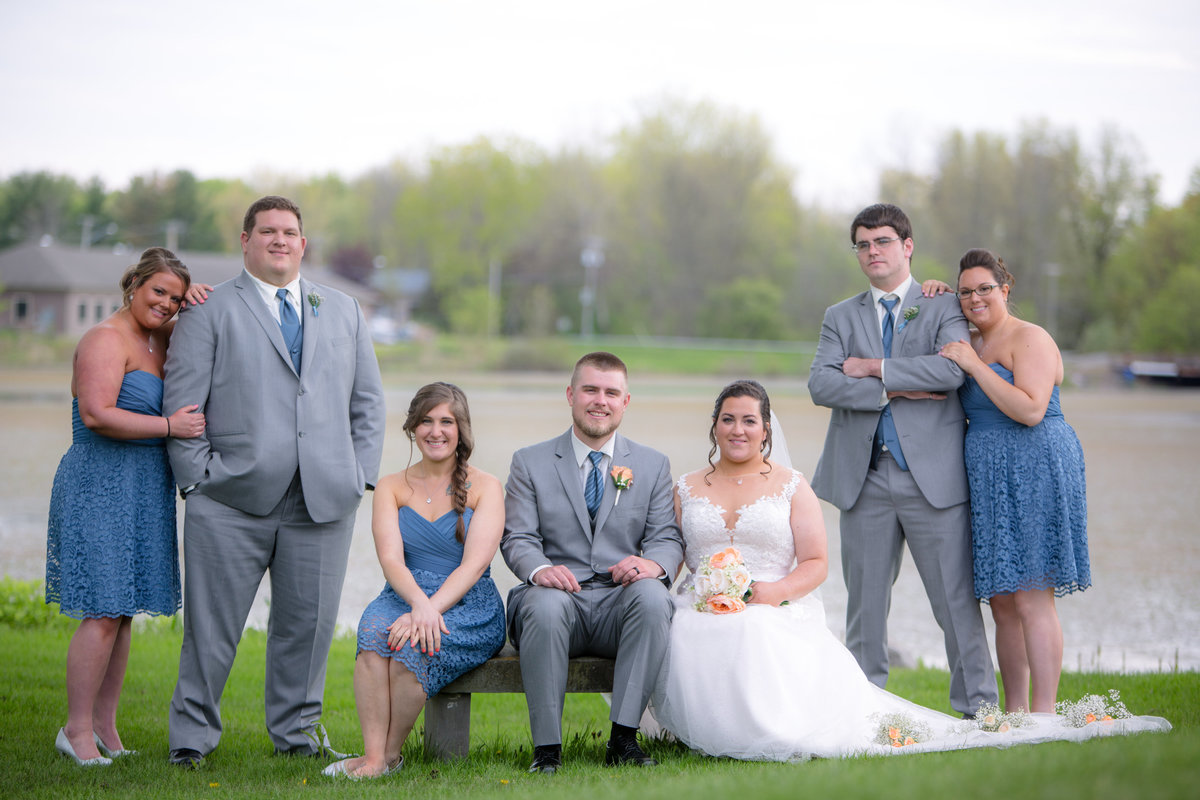 10 wedding photography bridal party by water