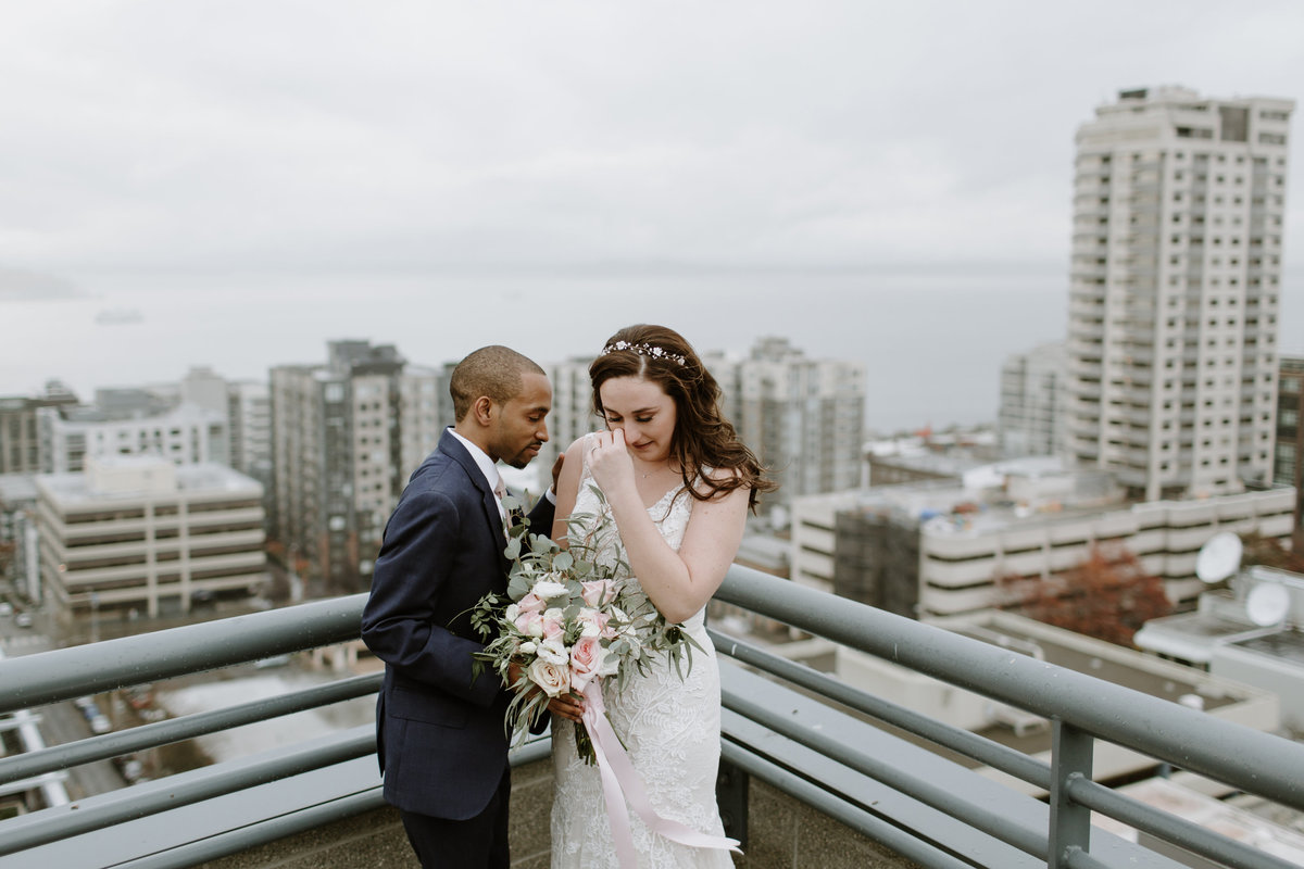 megan christine studio seattle wedding rooftop wedding
