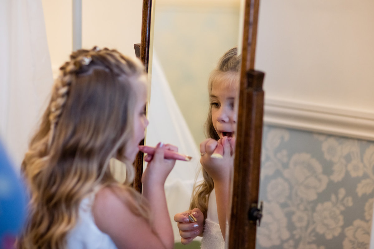 flower girl bridal make-up