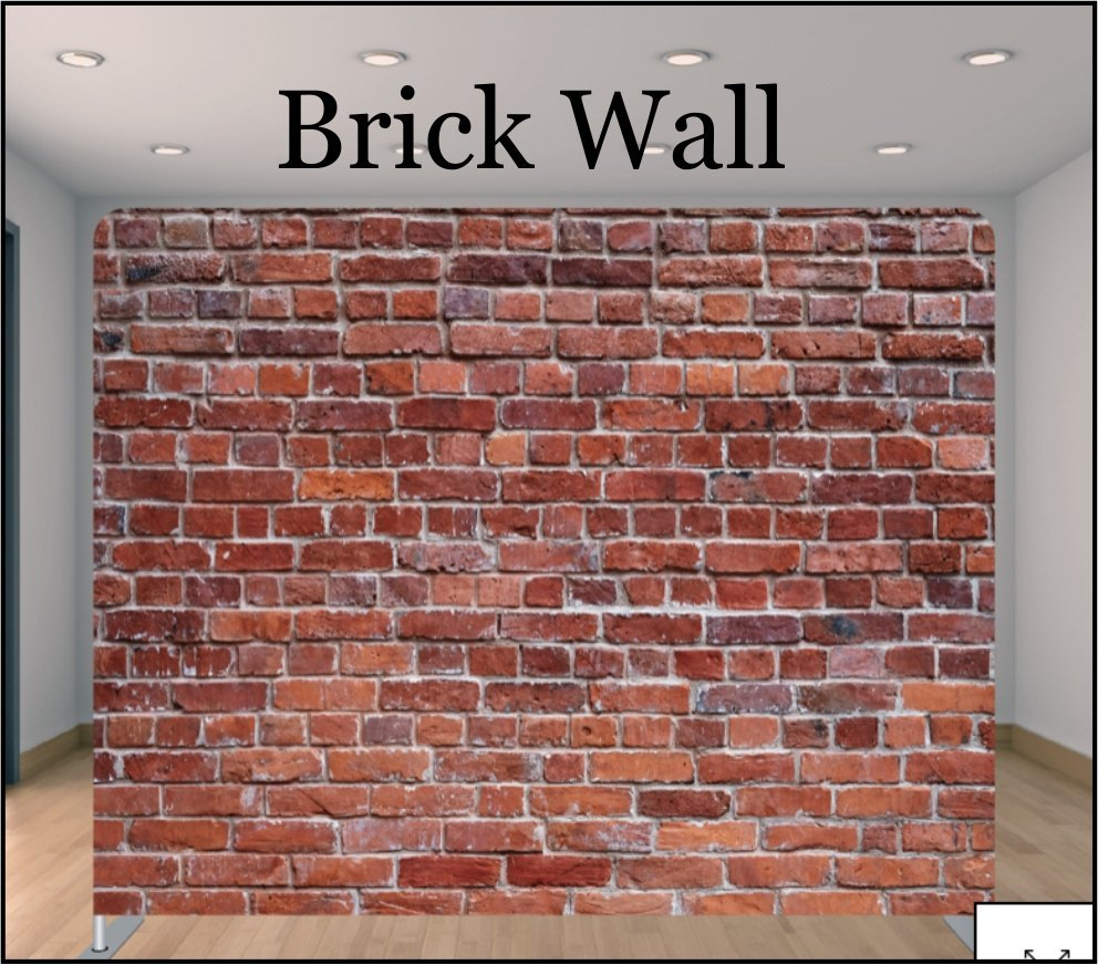 a brick photobooth backdrop