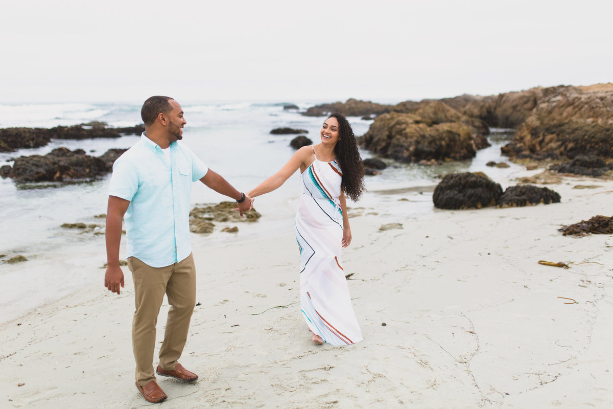 Engagement at Asilomar Beach