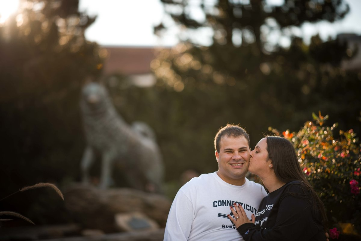 45 uconn husky engagement session for inn at saybrook point wedding