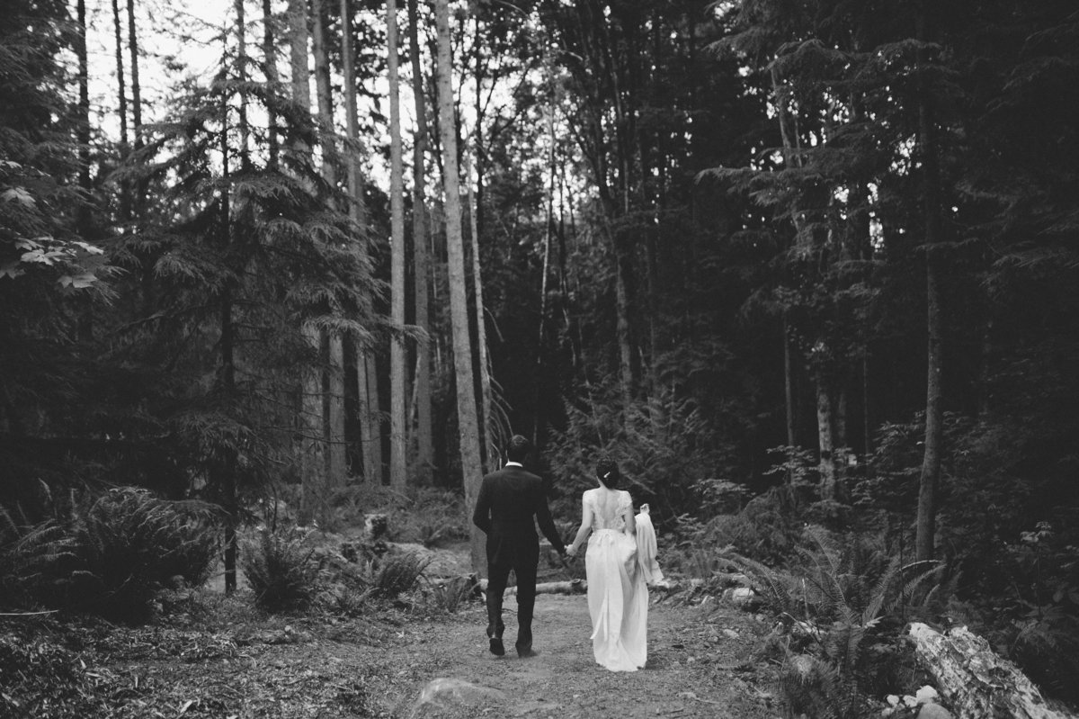 Destination Forrest Wedding Ceremony Photos