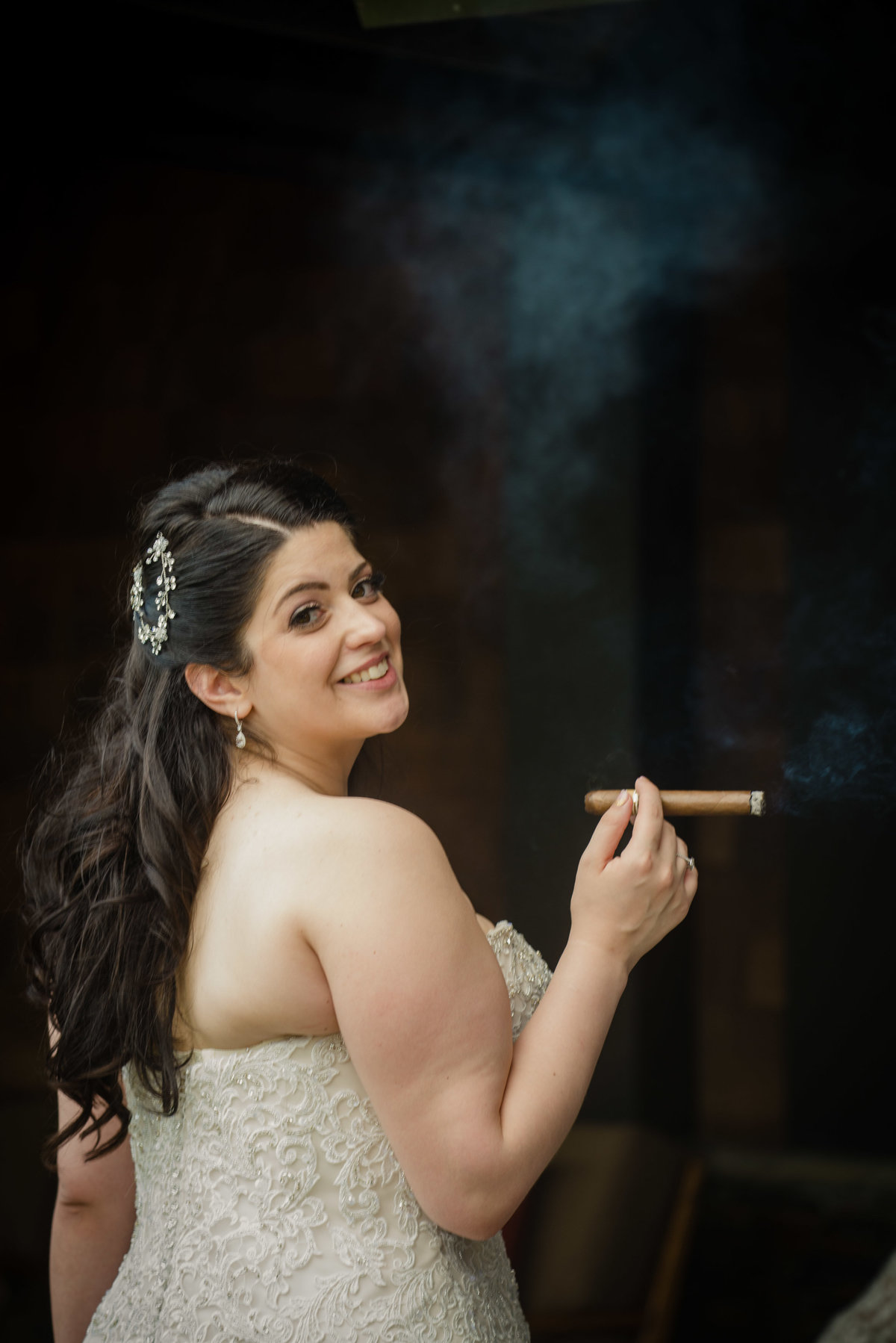 Bridal Portrait - Insignia Steak House, New York - Imagine Studios Photography - Wedding Photographer