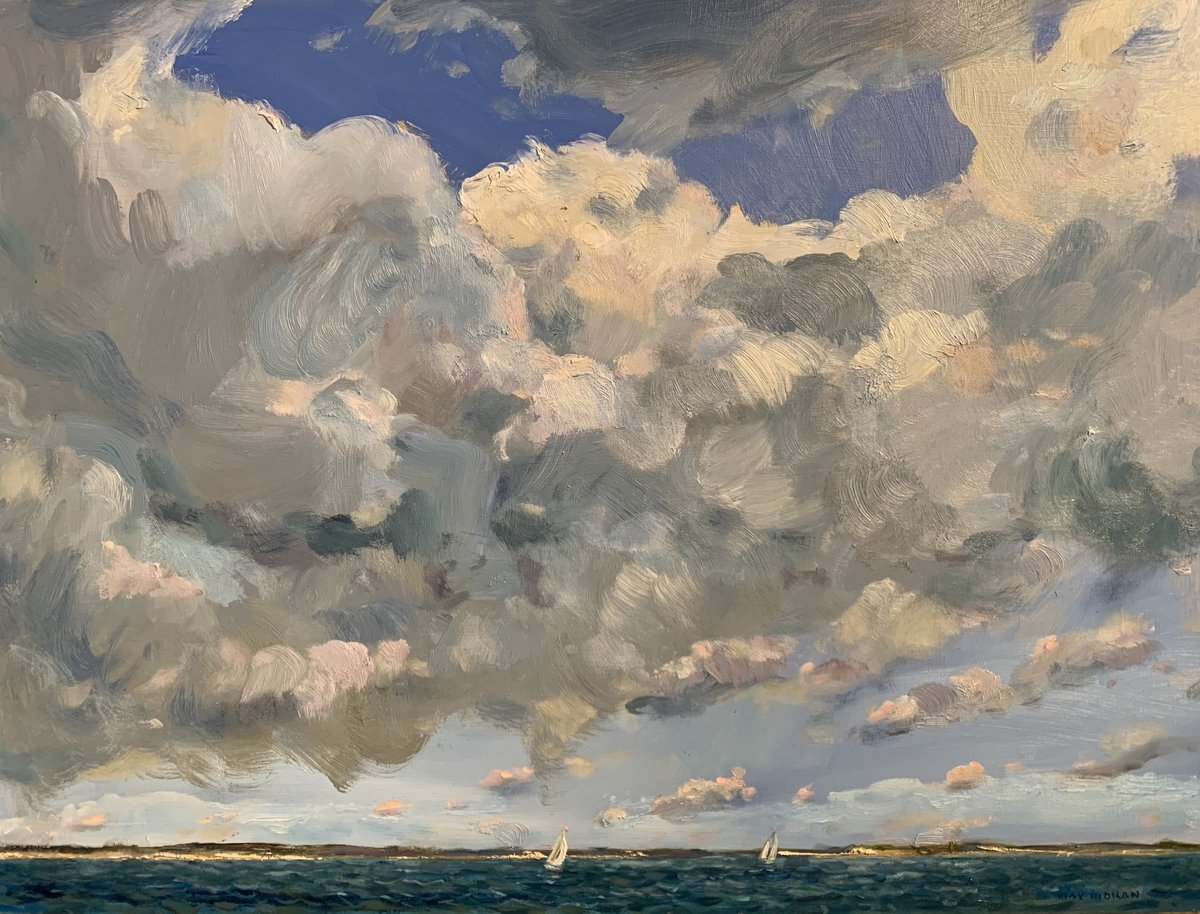 Wednesday Sail Peconic Bay 18 x 24 oop 4,000